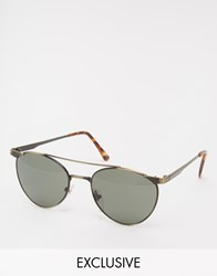 Reclaimed Vintage Aviator Sunglasses Gold