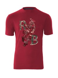 Raging Bull Vintage Rugby T Shirt Red