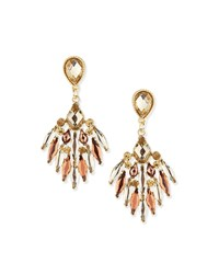 Jules Smith Designs Crystal Chandelier Earrings Jules Smith Yellow Gold Amber