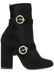 Lanvin Buckle Detail Boots Black