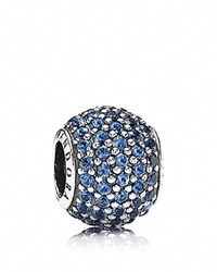 Pandora Design Pandora Charm Sterling Silver And Blue Crystal Pave Lights Moments Collection