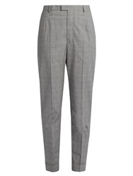 Etoile Isabel Marant Laure Checked Tapered Trousers Light Grey