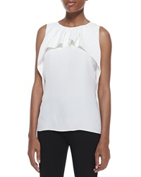Halston Heritage Ruffled Drape Sleeveless Top 12