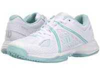 Wilson Nvision White Aruba Blue Mint Ice Women's Tennis Shoes