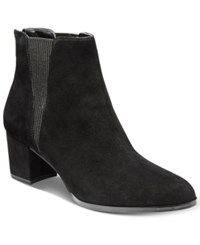 Alfani Women's Vitaa Ankle Booties Only At Macy's Women's Shoes Black Suede