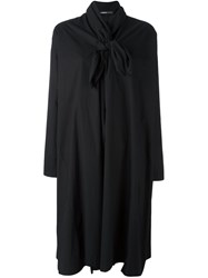Rundholz Neck Tie Shirt Dress Black