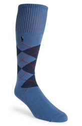Men's Polo Ralph Lauren Argyle Socks Blue Royal