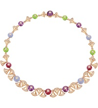 Bulgari Diva 18Ct Pink Gold And Diamond Necklace
