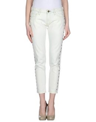 Shine Denim Pants Ivory