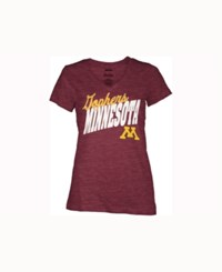 Pressbox Women's Minnesota Golden Gophers Gander T Shirt Maroon