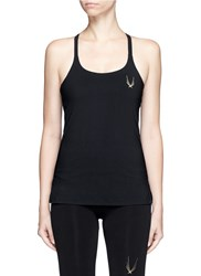 Lucas Hugh 'Core Performance' Cross Back Tank Top Black