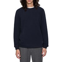 Folk Navy Panel Sweatshirt Blue