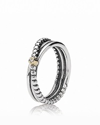 Pandora Design Pandora Ring Diamond 14K Gold And Sterling Silver Rising Star 0.01 Ct. T.W.