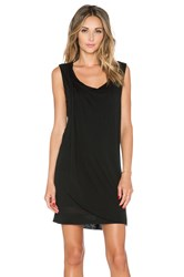 Dolan Sleeveless Double Layer Drape Front Dress Black