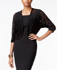 Thalia Sodi Lace Illusion Shrug Only At Macy's Deep Black