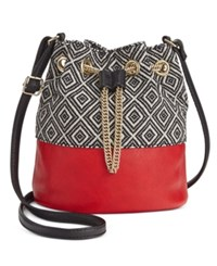 Inc International Concepts Dolli Bucket Crossbody Only At Macy's Print Red