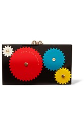 Charlotte Olympia Mechanical Pandora Perspex Clutch Black