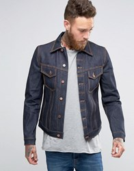 Nudie Jeans Billy Dry Denim Jacket Dry Ring Navy