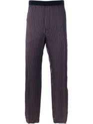 Golden Goose Deluxe Brand Striped Loose Trousers Black