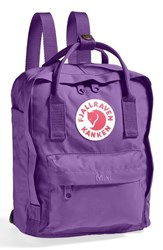 Fjall Raven Fj Llr Ven 'Mini K Nken' Water Resistant Backpack Purple