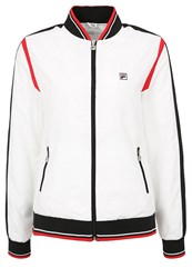 Fila Collien Tracksuit Top White Black Red
