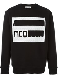 Mcq By Alexander Mcqueen Perforated Logo Sweatshirt Black