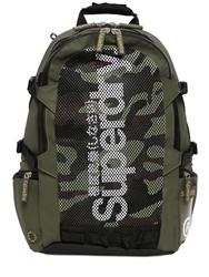 Superdry Camouflage Mesh Tarp Backpack Army Green