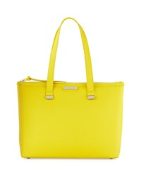 Charles Jourdan Owen Saffiano Leather Tote Bag Yellow