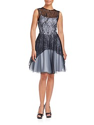 Nha Khanh Lace And Tulle Layered Gown Black Grey