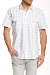 Obey Norris Woven Short Sleeve Trim Fit Shirt White