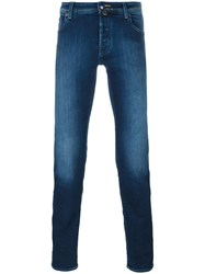 Jacob Cohen Stonewashed Stretch Skinny Jeans Blue