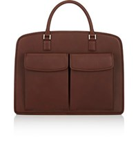 Barneys New York Men's Double Handle Briefcase Brown