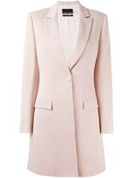 Roberto Cavalli Single Button Coat Pink And Purple