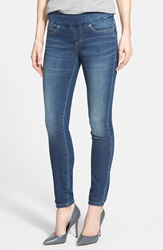 Jag Jeans 'Nora' Pull On Stretch Knit Skinny Jeans Petite Forever Blue