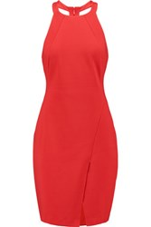 Halston Heritage Ponte Mini Dress Red