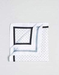 Selected Homme Pocket Square White
