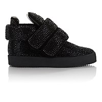 Giuseppe Zanotti Men's Crystal Embellished Puff Strap Sneakers Black