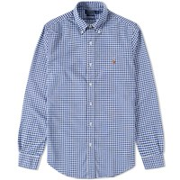 Polo Ralph Lauren Button Down Gingham Oxford Shirt Blue