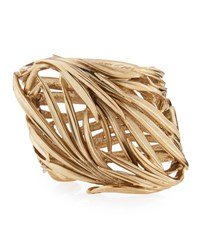 Oscar De La Renta Palm Leaf Cuff Bracelet Light Gold