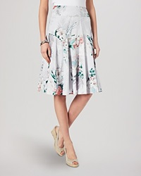 Phase Eight Skirt Mariah Floral Print Grey And Pink