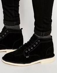 Kickers Legendary Suede Boots Black