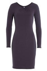Velvet Jersey Dress Purple