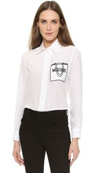 Moschino Long Sleeve Button Down White