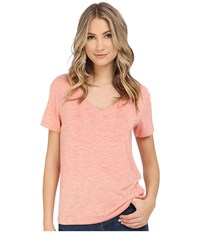 Splendid Heathered Spandex Jersey Tee Heather Coral Women's T Shirt Pink