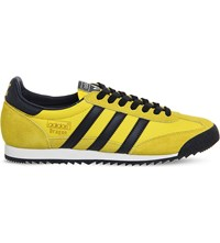Adidas Dragon Vintage Trainers Yellow Black White