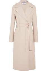 Harris Wharf London Belted Wool Felt Coat Stone