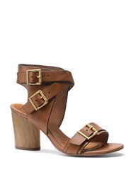 Isola Lisinda High Heel Leather Sandals Brown