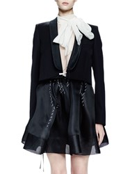 Lanvin Long Sleeve Shawl Collar Jacket Black