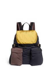Marni Colourblock Padded Backpack Multi Colour