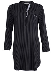 Cyberjammies Timeless Elegance Striped Nightshirt Black White